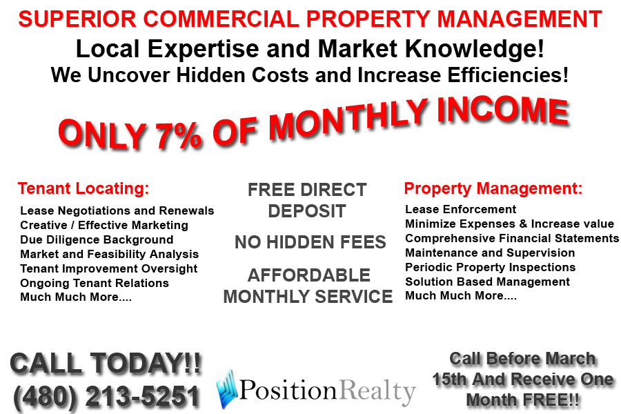 Commercial Property Executive : Full service property management only per month
