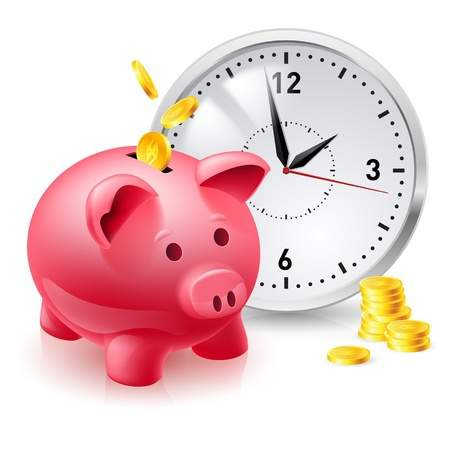 save-time-money-piggy-bank-clock
